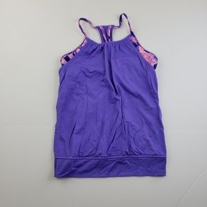 Ivivva Girls Purple Layered Tank Top pink purple12